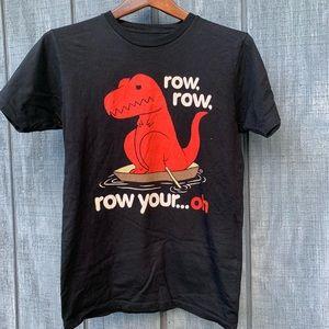 Goodie Two Sleeves Dinosaur Tshirt Black Small